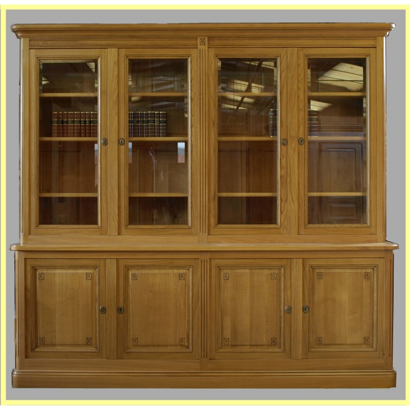Biblioth ques louis xvi meubles hugon meubles normands for Meuble vitrine une porte